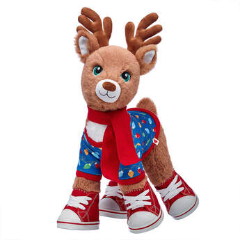 Santa's Reindeer Christmas Lights Sweater & Scarf  Gift Set, , hi-res