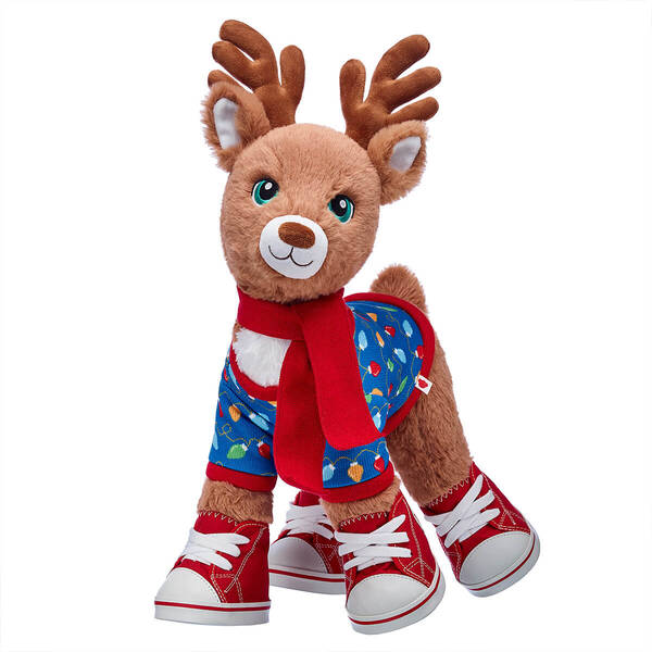 Santa's Reindeer Christmas Lights Sweater & Scarf  Gift Set, , hi-res