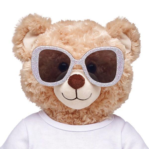 Honey Girls Silver Glitter Sunglasses, , hi-res