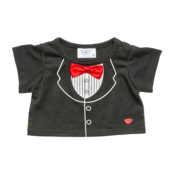 Your furry friend will be ready for anything in this Tuxedo T-Shirt. It's perfect for dressing up while staying casual. This black tee has a tuxedo graphic printed on it with a red bowtie to complete the look.