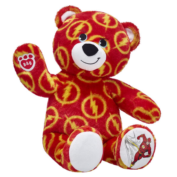 The Flash DC Comics Red Teddy Bear - Build-A-Bear