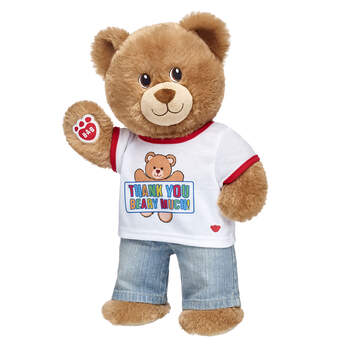 "Give a thank you gift that's cute and cuddly! This teddy bear gift set is a fun way to say """"thanks"""" to someone special. <p>Price includes:</p>  <ul>    <li>Lil' Brownie Cub</li>    <li>Thank You Beary Much T-Shirt</li>    <li>Light Classic Jeans</li> </ul>"