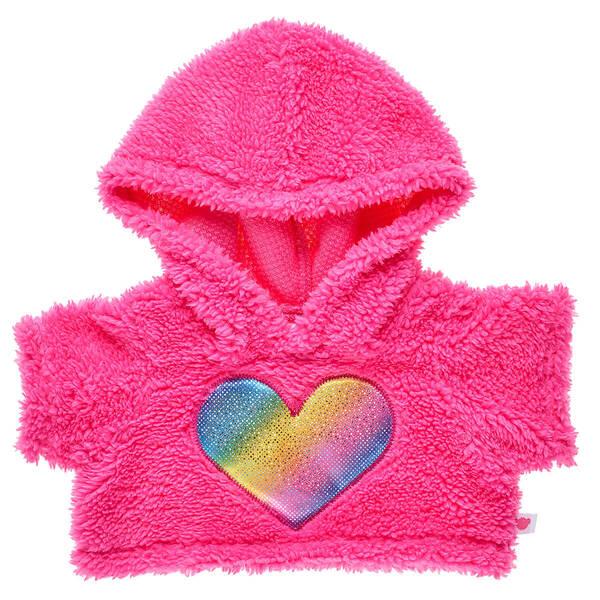 Pink Rainbow Heart Hoodie - Build-A-Bear Workshop®