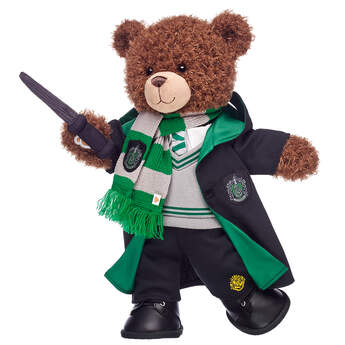 Harry Potter Bear Slytherin Gift Set with House Robe, Scarf, Hogwarts Pants & Wand, , hi-res
