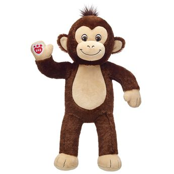 monkey stuffed animal plush standing and waiving