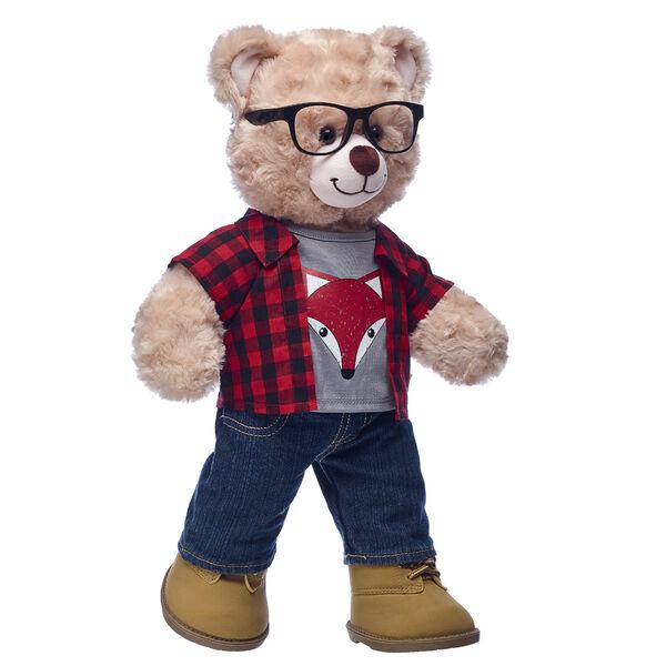 Happy Hugs Teddy Plaid Fox Gift Set, , hi-res