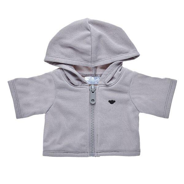 Grey Zip Hoodie, , hi-res
