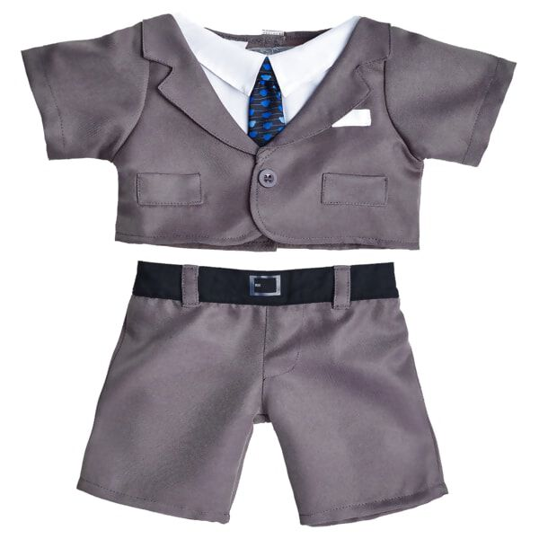 Gray Business Suit 2 pc., , hi-res