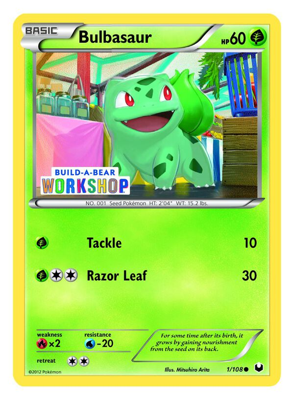 Build-A-Bear Workshop Exclusive Pokémon Bulbasaur TCG Card, , hi-res