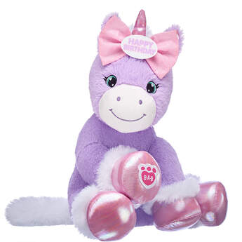 Online Exclusive Purple Baby Unicorn with Bow, , hi-res