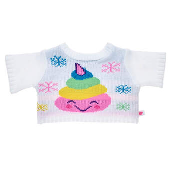 Rainbow Poo Emoji Sweater - Build-A-Bear Workshop®