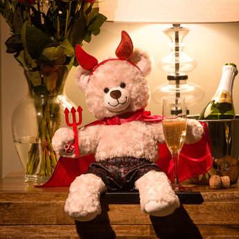 Online Exclusive Devilish Happy Hugs Teddy Valentine's Day Gift Set, , hi-res
