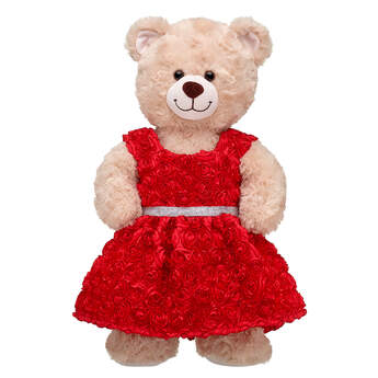 Online Exclusive Red Roses Dress - Build-A-Bear Workshop®