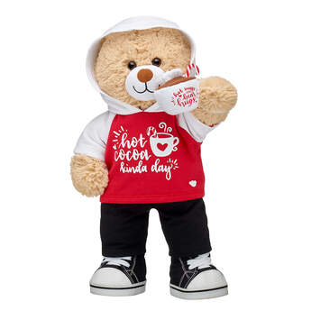 Online Exclusive Cuddly Brown Bear Hot Cocoa Gift Set, , hi-res