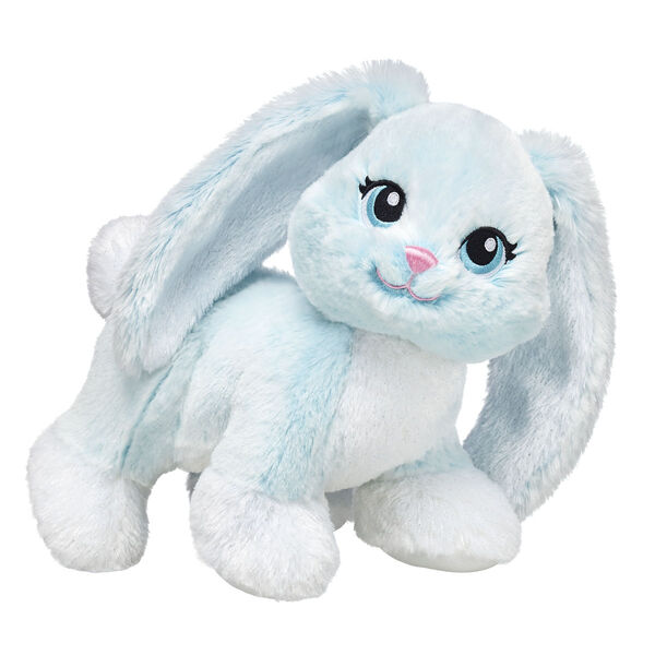 mint coloured rabbit stuffed animal