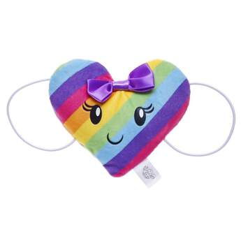 Add some colourful smiles to any furry friend's look with this super cute wrist accessory! This heart-shaped plush accessory has rainbow stripes and a precious smiley face in the middle. A tiny purple bow at the top of the heart is the perfect finishing touch. With elastic bands that easily attach to your furry friend's paws, it's the perfect way to add a little heart to any outfit!
