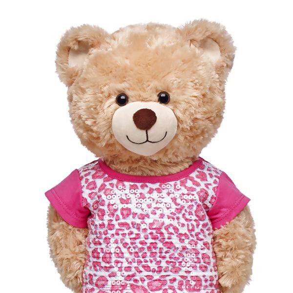 Pink Leopard Sequin T-Shirt, , hi-res