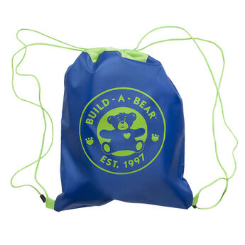 Take your furry friend wherever you go in this Blue Reusable Drawstring Backpack. It's great for your furry friend's clothing and accessories, books, games and more.