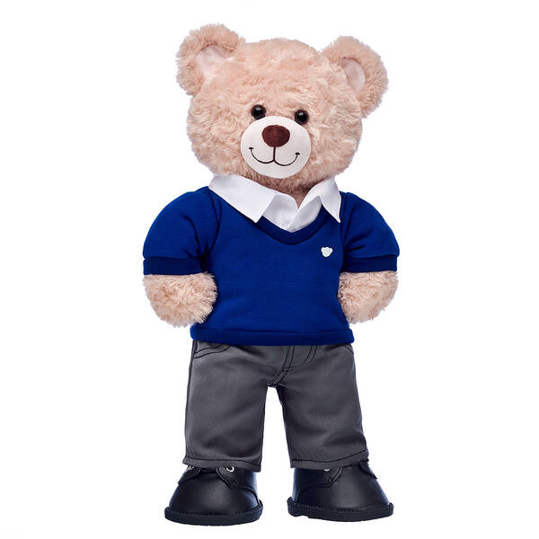 Happy Hugs Teddy Blue School Uniform Gift Set, , hi-res