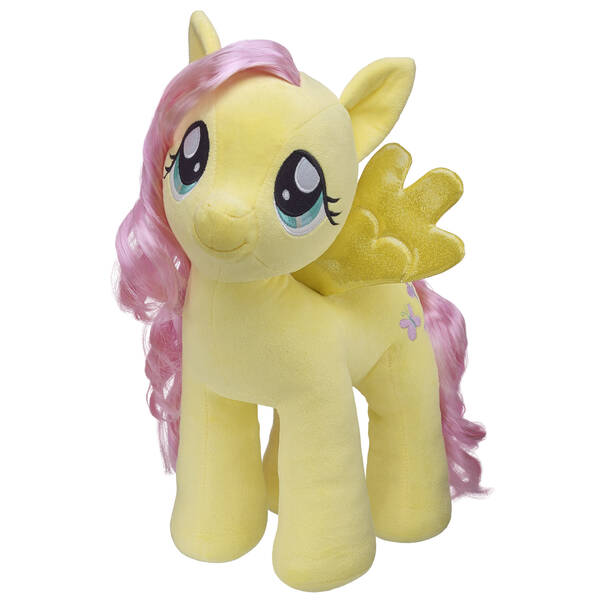 This MY LITTLE PONY plush pal might be shy but she's full of heart! Personalise this stuffed animal with clothing and accessories to make the perfect unique gift. MY LITTLE PONY and all related characters are trademarks of Hasbro and are used with permission. ©2013 Hasbro. All rights reserved.