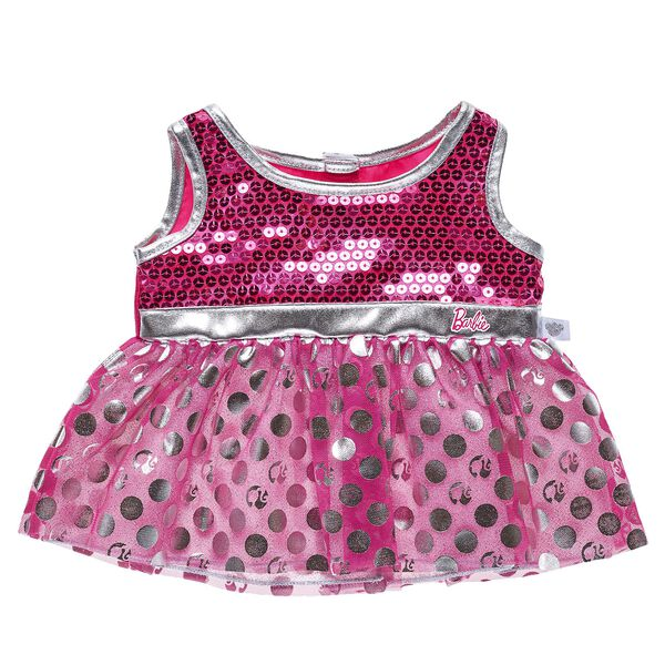 Barbie™ Silver Polka Dot Dress, , hi-res