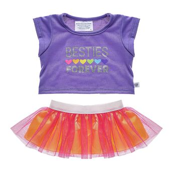 The BEARY best friends stick together through it all, and now your furry friends can do just that while wearing this colourful skirt set. The rainbow hearts and bright colours are super cute! Personalise a furry friend to make the perfect gift. Shop online or visit a store near you!