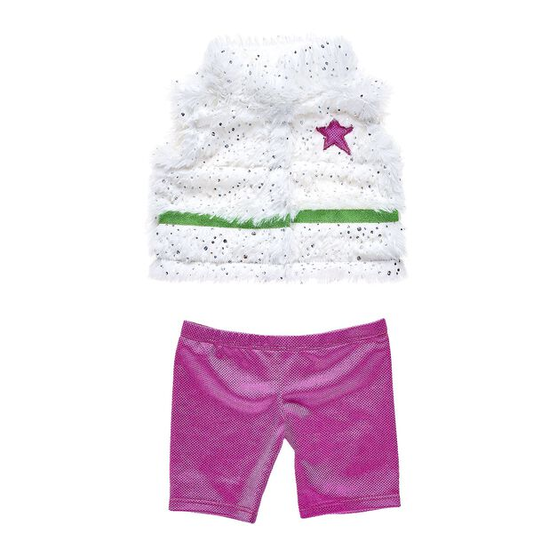 Honey Girls Fur Vest & Pant Bundle 2 pc., , hi-res