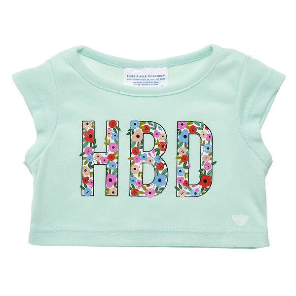 Online Exclusive HBD Flowers T-Shirt - Build-A-Bear Workshop®