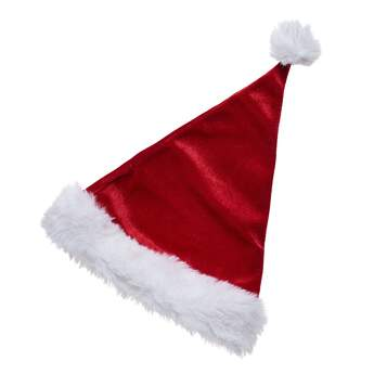 Greetings from the North Pole! Your furry friend can look like Santa Claus himself with this adorable red stuffed animal Santa hat. Add a Santa hat to any furry friend to make a perfect Christmas gift for anyone on your list!