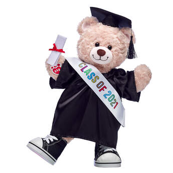Happy Hugs Teddy Black Graduation Gown Gift Set, , hi-res