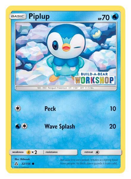 Build-A-Bear Workshop Exclusive Pokémon Piplup TCG Card - Build-A-Bear Workshop®