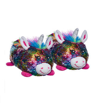 Unicorn Sequin Slippers, , hi-res
