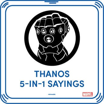 Online Exclusive Thanos 5-in-1 Sayings - Build-A-Bear Workshop®