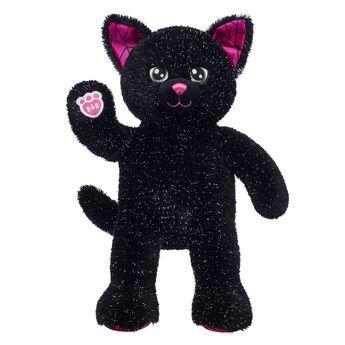 halloween black kitty stuffed animal standing