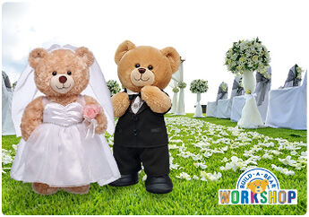 CeleBEARate the happy couple with an E-Gift Card to Build-A-Bear Workshop!
