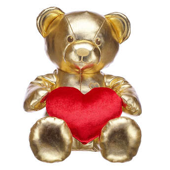 Online Exclusive Gift of Gold Bear Valentine's Day Gift Set, , hi-res