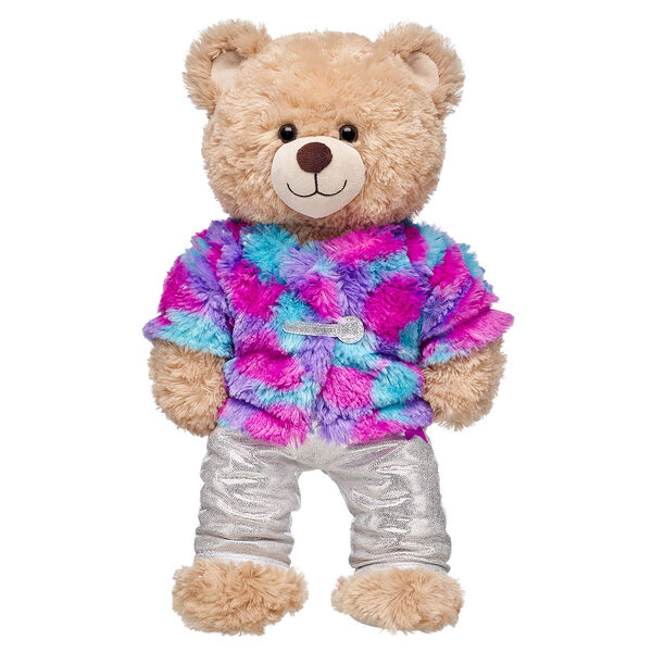 Honey Girl Fur Coat and Sparkly Pant Set 2 pc., , hi-res