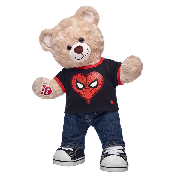 teddy bear gift set with spider-man valentines day t shirt