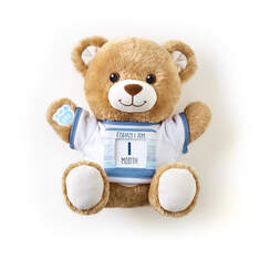 """Little Cub Hugs Teddy Teal """"Today I Am"""" Baby Gift Set, , hi-res"""