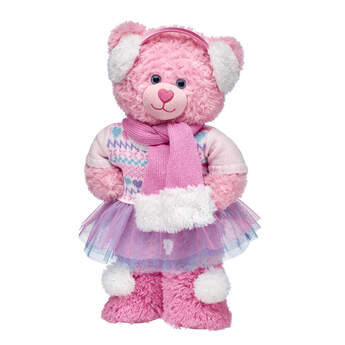 Pink Cuddles Ready for Winter Teddy Bear Gift Set, , hi-res