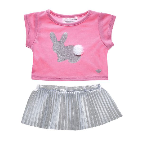 Easter Bunny Skirt Set 2 pc., , hi-res
