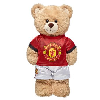Goal! Cheer on Manchester United F.C. with this red football jersey that's the perfect size for your furry friend!