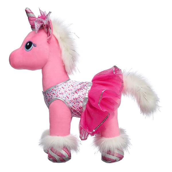 Give your four-legged furry friend a look as special as they are! This sparkly two-piece outfit includes a silver and pink dress and matching hair bow.