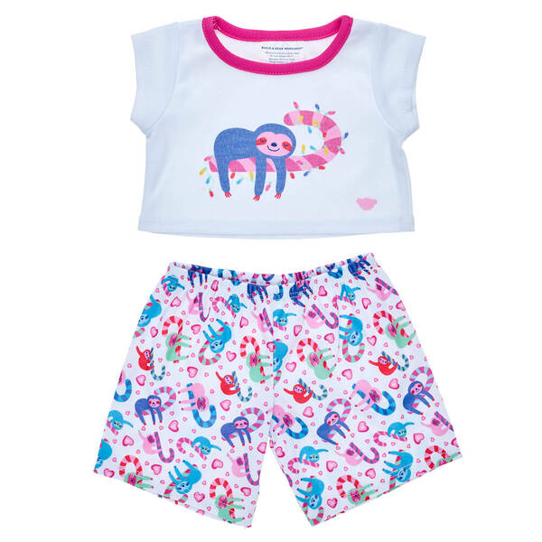 Online Exclusive Sloth Christmas PJ Set 2 pc. - Build-A-Bear Workshop®