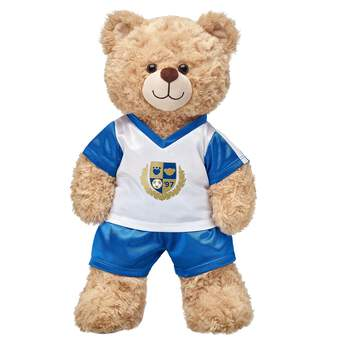 This Blue & White Football Uniform is perfect for gameday! Find stuffed animals, clothing & accessories for any occasion at Build-A-Bear.