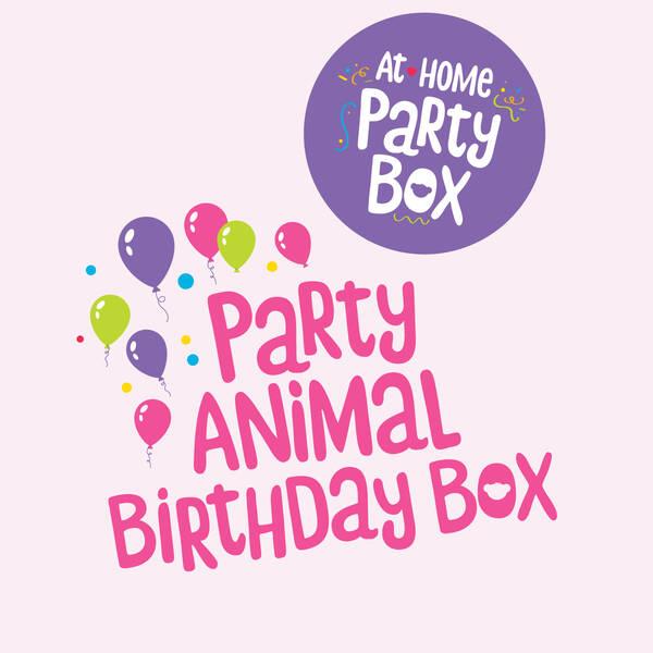 Party Animal Birthday Box (Pink) – 4 People, , hi-res