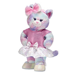 Sparkle and twirl all season long with this cute kitty stuffed animal gift set! Pastel Swirl Kitty looks so pretty in this sparkly sequin tutu outfit. It's an enchanting gift set they'll play with year round!