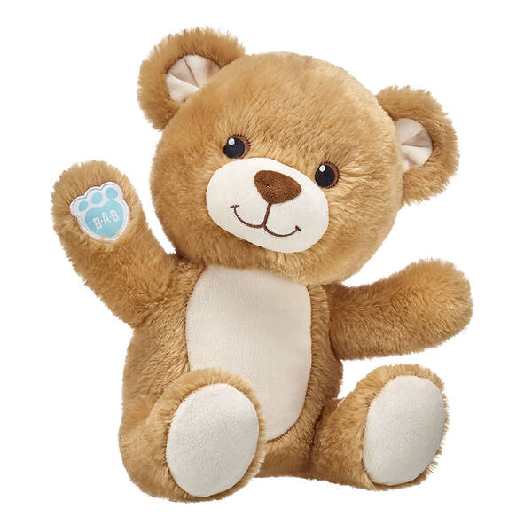 Our online platform makes it easy to build super cute personalized teddy bears for babies for those looking to give the PAWfect gift. You can add a personal touch to this classic teddy bear stuffed animal by adding up to 3 lines of embroidery! Free shipping on orders over $45. Shop online now at Build-A-Bear Workshop.