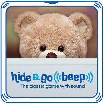 Add Hide & Go Beep to any furry friend to play the classic game with sound! Squeeze to start the beep. Hide it. Find it. Squeeze it again! Play the game over and over with your fury friend.