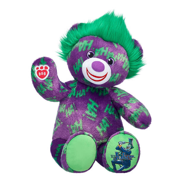 The Joker™ Teddy Bear - Build-A-Bear Workshop®